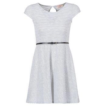 Υφασμάτινα Γυναίκα Κοντά Φορέματα Moony Mood IKIMI Άσπρο / Marine