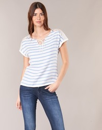 Υφασμάτινα Γυναίκα Μπλούζες Casual Attitude IYUREOL Άσπρο / Μπλέ