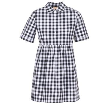 Υφασμάτινα Γυναίκα Κοντά Φορέματα Moony Mood IKAMAL Άσπρο / Black