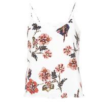 Υφασμάτινα Γυναίκα Αμάνικα / T-shirts χωρίς μανίκια Moony Mood IDARI Άσπρο