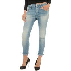 Υφασμάτινα Γυναίκα Boyfriend jeans Meltin'pot LAKITA D1669 UK420 Μπλέ