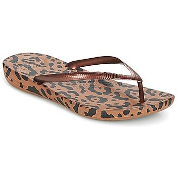 Παπούτσια Γυναίκα Σαγιονάρες FitFlop IQUSHION ERGONOMIC FLIP-FLOPS Bronze / Mix / Leopard / Print