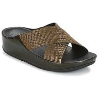 Παπούτσια Γυναίκα Τσόκαρα FitFlop CRYSTALL SLIDE Olive