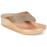 Παπούτσια Γυναίκα Σαγιονάρες FitFlop CRYSTALL Ροζ / Χρυσο