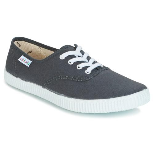 Παπούτσια Χαμηλά Sneakers Victoria INGLESA LONA Anthracite