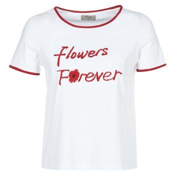 Υφασμάτινα Γυναίκα T-shirt με κοντά μανίκια Betty London INNATIMBI Άσπρο / Red