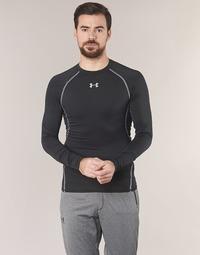 Υφασμάτινα Άνδρας Μπλουζάκια με μακριά μανίκια Under Armour LS COMPRESSION Black