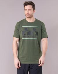 Υφασμάτινα Άνδρας T-shirt με κοντά μανίκια Under Armour BLOCKED SPORTSTYLE LOGO Kaki