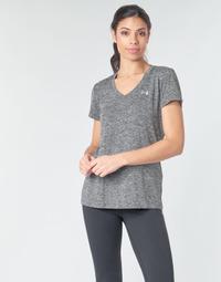 Υφασμάτινα Γυναίκα T-shirt με κοντά μανίκια Under Armour TECH SSV - TWIST Black / Grey