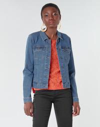 Υφασμάτινα Γυναίκα Τζιν Μπουφάν/Jacket  Vero Moda VMHOT SOYA Μπλέ / Medium