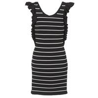 Υφασμάτινα Γυναίκα Κοντά Φορέματα Vero Moda VMABHY Black / Άσπρο