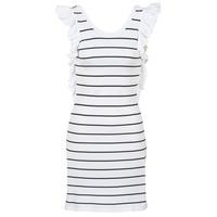 Υφασμάτινα Γυναίκα Κοντά Φορέματα Vero Moda VMABHY Άσπρο / Black