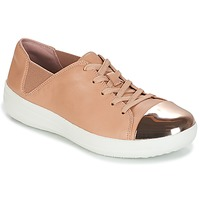 Παπούτσια Γυναίκα Χαμηλά Sneakers FitFlop F-SPORTY MIRROR-TOE SNEAKERS Nude