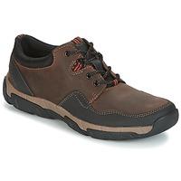 Παπούτσια Άνδρας Χαμηλά Sneakers Clarks WALBECK EDGE Καφέ / Leather