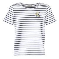 Υφασμάτινα Γυναίκα T-shirt με κοντά μανίκια Betty London INNAMOU Άσπρο / Marine