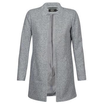 Υφασμάτινα Γυναίκα Παλτό Only SOHO Grey