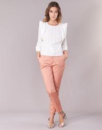 Υφασμάτινα Γυναίκα Παντελόνια Chino/Carrot Only PARIS Ροζ