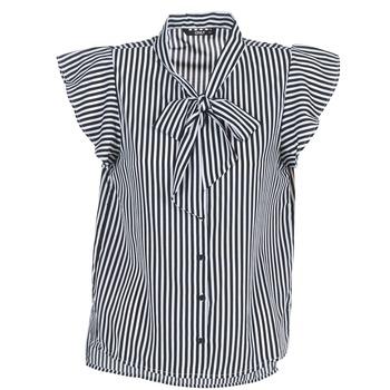 Υφασμάτινα Γυναίκα Μπλούζες Only ELENA Black / Άσπρο