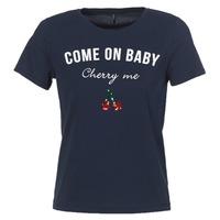 Υφασμάτινα Γυναίκα T-shirt με κοντά μανίκια Only KITA Marine