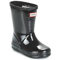 Παπούτσια Παιδί Μπότες βροχής Hunter KIDS FIRST CLASSIC GLOSS Black