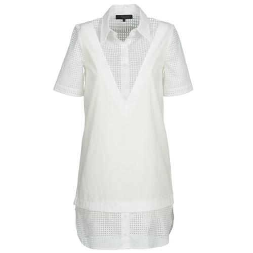 Υφασμάτινα Γυναίκα Κοντά Φορέματα American Retro CHARLOTTE άσπρο