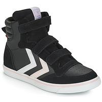 Παπούτσια Κορίτσι Ψηλά Sneakers Hummel STADIL LEATHER JR Black