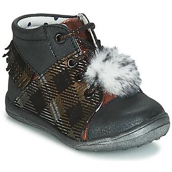 Παπούτσια Κορίτσι Ψηλά Sneakers Catimini PEPITA Black / Cuivré