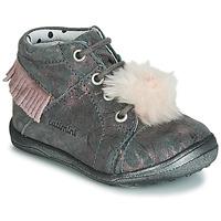 4ad416b2f9 Παπούτσια Κορίτσι Ψηλά Sneakers Catimini PEPITA Vte   ΓΚΡΙ-marbre   Ροζ    Dpf