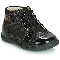 Παπούτσια Κορίτσι Ψηλά Sneakers GBB NICOLE Black / Pailleté
