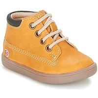 Παπούτσια Αγόρι Ψηλά Sneakers GBB NORMAN Brown / Moutarde