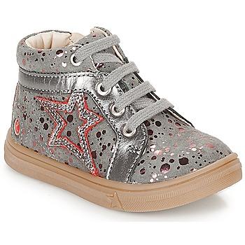 Παπούτσια Κορίτσι Ψηλά Sneakers GBB NAVETTE Grey / Ροζ