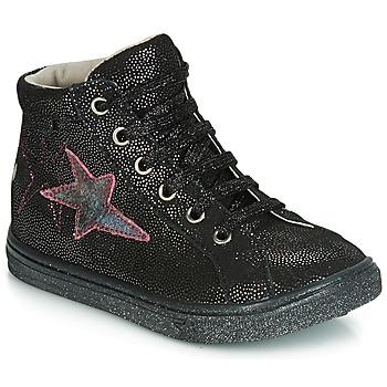 Παπούτσια Κορίτσι Ψηλά Sneakers GBB MARTA Black / Silver