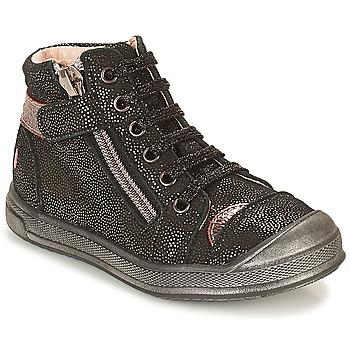 Παπούτσια Κορίτσι Ψηλά Sneakers GBB DESTINY Black / Pailleté