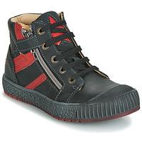 Παπούτσια Αγόρι Ψηλά Sneakers GBB RAMBOUTAN Vte / Μαύρο-brique / Dpf / Linux