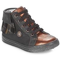 Παπούτσια Κορίτσι Ψηλά Sneakers Catimini LOULOU Black / Cuivré