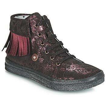Παπούτσια Κορίτσι Ψηλά Sneakers Catimini LOULOU Black / Ροζ
