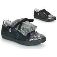 Παπούτσια Κορίτσι Χαμηλά Sneakers Catimini MARGOTTE Black / Silver