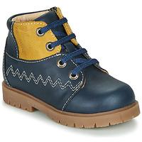Παπούτσια Αγόρι Μπότες Catimini CHARLY Vtu / ΜΠΛΕ-ΜΟΥΣΤΑΡΔΙ / Dpf / 2900