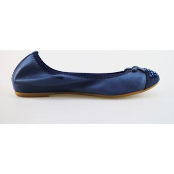 Μπαλαρίνες Cruz ballerine blu pelle camoscio AG314