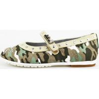 Παπούτσια Κορίτσι Μπαλαρίνες Didiblu ballerine verde tessuto beige pelle AG488 Multicolore
