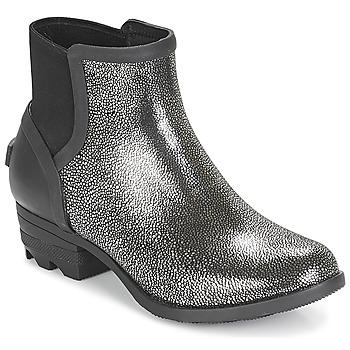 Παπούτσια Γυναίκα Μπότες Sorel JANEY CHELSEA Black / Argenté