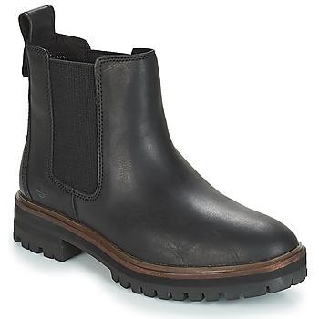 Παπούτσια Γυναίκα Μπότες Timberland London Square Chelsea Black
