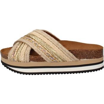 Παπούτσια Γυναίκα σαγιονάρες 5 Pro Ject Σανδάλια AC586 Μπεζ
