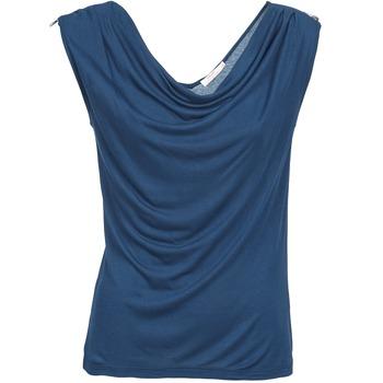 Υφασμάτινα Γυναίκα Αμάνικα / T-shirts χωρίς μανίκια DDP CARLA Marine