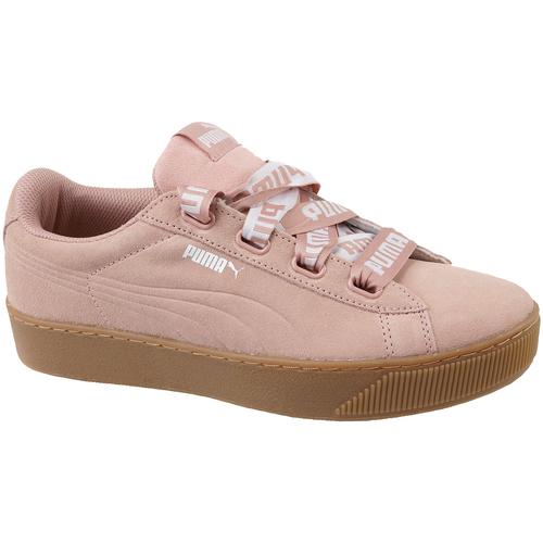 Παπούτσια Γυναίκα Χαμηλά Sneakers Puma Vikky Platform Ribbon Bold Rose