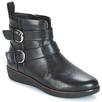 Παπούτσια Γυναίκα Μπότες FitFlop LAILA DOUBLE BUCKLE Black