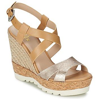 Παπούτσια Γυναίκα Σανδάλια / Πέδιλα Bullboxer GLADOU Brown / Argenté
