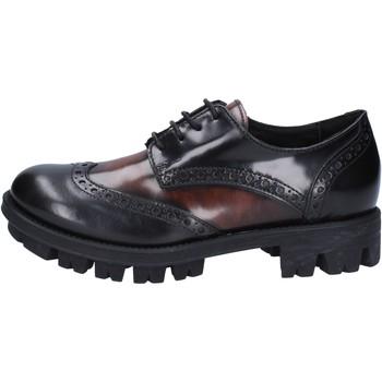 Παπούτσια Γυναίκα Derby Lea Foscati classiche nero pelle lucida marrone AD743 Nero