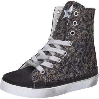 Ψηλά Sneakers 2 Stars sneakers grigio camoscio oro tessuto AD884