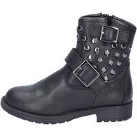 Παπούτσια Κορίτσι Μποτίνια Didiblu stivaletti nero pelle borchie AD981 Nero
